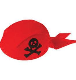 Kid Fun Pirate Cap Red