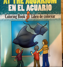 Dover Publications At The Aquarium Bilingual Coloring Book
