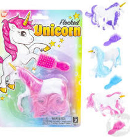 The Toy Network Flocked Unicorn (Assorted Colors)