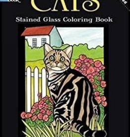 Dover Publications Cats, Stained Glass