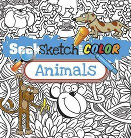 Dover Publications Seek Sketch and color animal