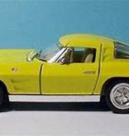 Kinsmart 1963 Corvette Sting Ray Yellow