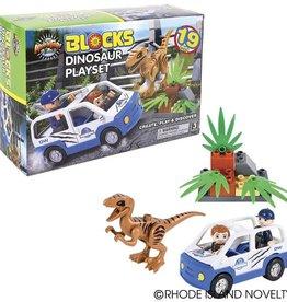 Adventure Planet Block Dinosaur Playset