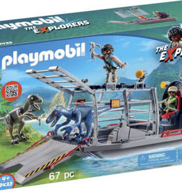 Playmobil Enemy with Airboat Raptor 9433