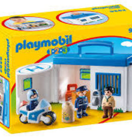 Playmobil 123 Take Along Police Station