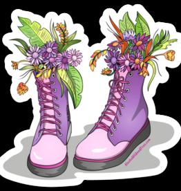 Alaska Wild and Free Boots Purple sticker