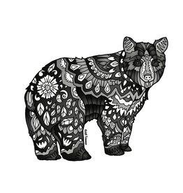 Alaska Wild and Free Black Bear sticker
