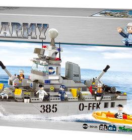 Sluban Navy Destroyer Military Ship (461 pieces)