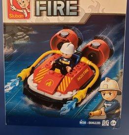 Sluban Sluban Fire Set B Rescue Boat (86 Pieces)