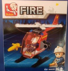 Sluban Sluban Fire Set D Helicopter (80 Pieces)