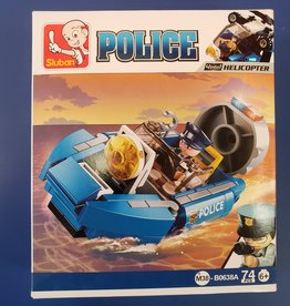 Sluban Sluban Police Set A Boat (74 Pieces)