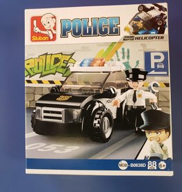 Sluban Sluban Police Set D Patrol Car (88 Piece)
