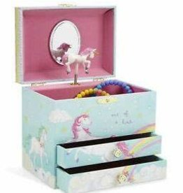 Jewelkeeper Unicorn Musical Jewelry Chest - 2 Pullout Drawers