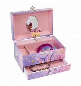 Jewelkeeper Butterfly Musical Jewelry Box - Single Drawer
