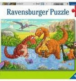 Ravensburger 24 piece each Dinosaurs at Play (2 puzzles)