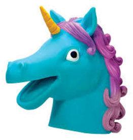 Schylling Unicorn Hand Puppet Blue