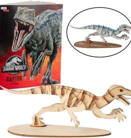 Incredibuilds Jurassic World: Raptor Book and 3D Wood Model