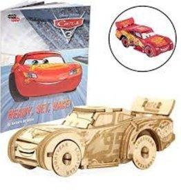 Incredibuilds Lightning McQueen 3D Wood Model and Book