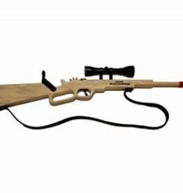 Magnum 1873 Winchester Rifle with Scope and Sling Rubber Band Gun