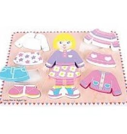 Big Jigs Dressing Girl Wooden Puzzle
