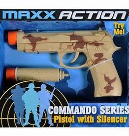 Maxx Action Maxx Action Commando 9 mm Pistol with Silencer