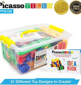 PicassoTile 100 Piece Nuts and Bolts Picasso Tiles