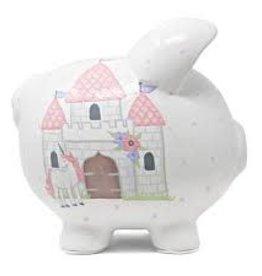 Child to Cherish Unicorn Castle Piggy Bank