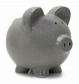 Child to Cherish Grey Piggy Bank