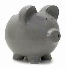 Child to Cherish Large Grey Piggy Bank