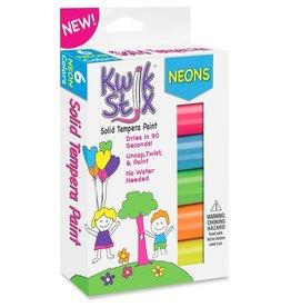 Kwik Stix Kwik Stix Tempura Paint 6 Colors Neon