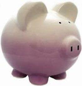 Child to Cherish Purple Ombre Piggy Bank