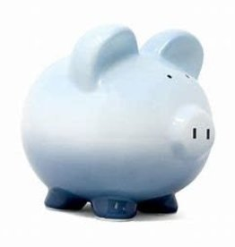 Child to Cherish Boysenberry Ombre Piggy Bank