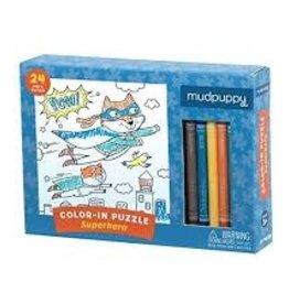 Mudpuppy Superhero Color in Puzzle 24 Piece