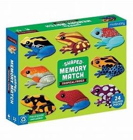 Mudpuppy Tropical Frogs Shaped Memory Match 24 Piece