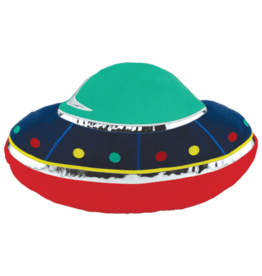"iScream 18"" UFO Embroidered Bubblegum Scented Pillow"