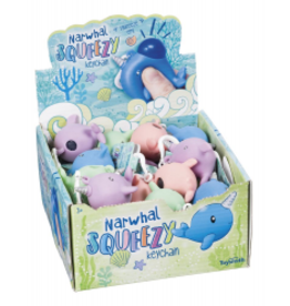 Toysmith Narwhal Squeezy Pink