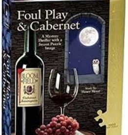 University Games Foul Play & Cabernet - Murder Mystery Puzzle