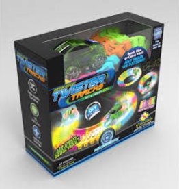 Mindscope Twister Tracks 11 feet Neon Glow Track  1 Green Race Car