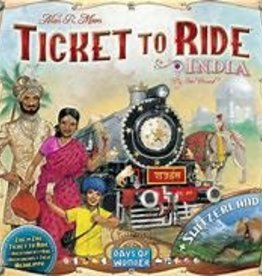 Days of Wonder Games Ticket to Ride: India Map Collection 2