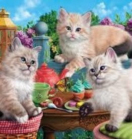 SunsOut 500 pc Kitten Tea Party