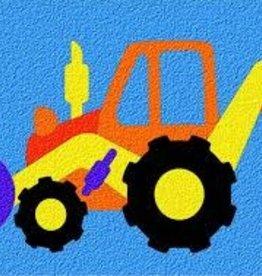 LAURI Crepe Rubber Puzzle Backhoe assorted colors