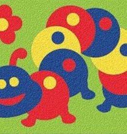 LAURI Crepe Rubber Puzzle Caterpillar assorted colors