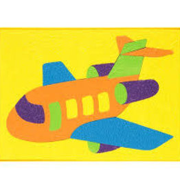 LAURI Crepe Rubber Puzzle  Airplane assorted colors