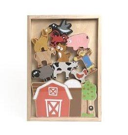BeginAgain Balance Barn  Farm Playset & Stacking Game