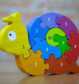 BeginAgain Rubberwood Snail Number Puzzle