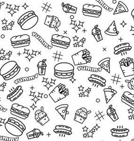 Stowly Joey Jumbo Coloring Fabric Junk Food