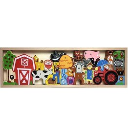 BeginAgain Farm A to Z Puzzle & Playset