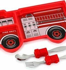 Kids Funware Me Time Fire Engine Meal Set