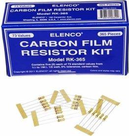 Elenco 365pc. 1/2Watt Carbon Film Resistor Kit