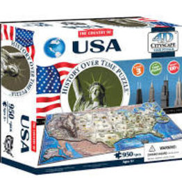 4D Cityscape Time 950 pc 4D USA Puzzle